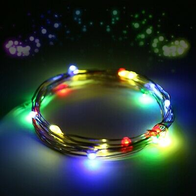 30LED Flexible Wire Mix-color Wedding Wreath Party Fairy Light Battery Operated
