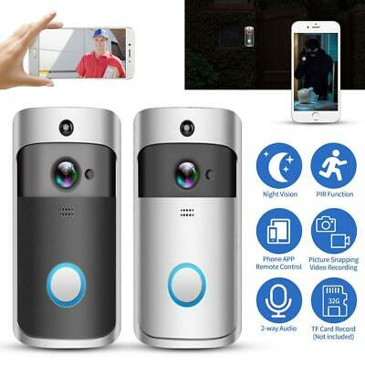 Silver Smart Video Doorbell With Battery 1080P FHD Wireless Wifi Anti-Theft
