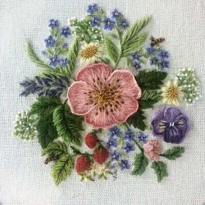 An English Bouquet- an crewel embroidery kit