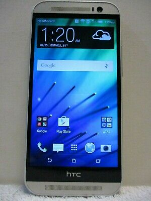 HTC One M8 - 32GB - Silver (AT&T Unlocked) Smartphone - Clean IMEI