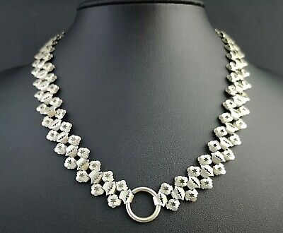 Antique Victorian silver plated bookchain collar necklace