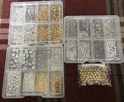 Assorted gold and silver Jewellery Making, Art Crafts, Job Lot