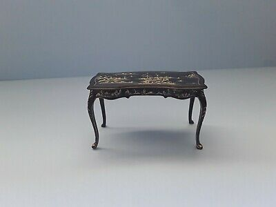 DOLLS HOUSE JIAYI HANDPAINTED CHINIOSERIE DESK 12th SCALE