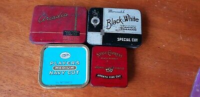 Tobacco Tin Lot:  State Express, Arcadia, Players and Black & White