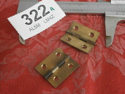 HINGES Clock Case Fixings PAIR cabinet Vintage parts spares wall mantle 322A