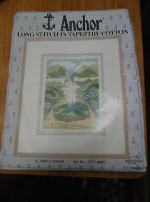 Unworked Anchor Longstitch Kit. Cupid's Garden