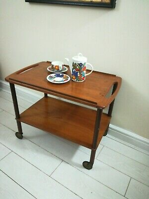 Vintage Retro Teak Danish Tea Trolley Mid Century