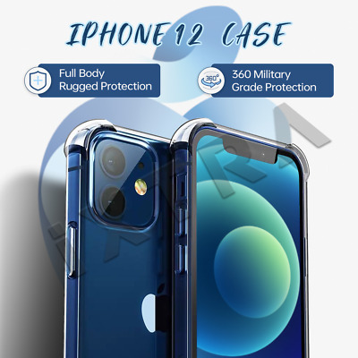 iPhone 11/Pro/Max Clear Case Shockproof Bumper Crystal Slim Soft Cover Silicone