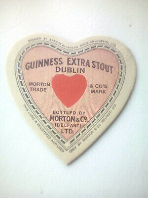 Vintage GUINNESS EXTRA STOUT   -  Cat No'?? Beermat / Coaster