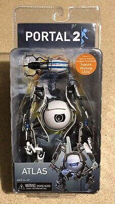 Portal 2 – 7″ Deluxe Action Figure – Atlas with LED Lights - RARE