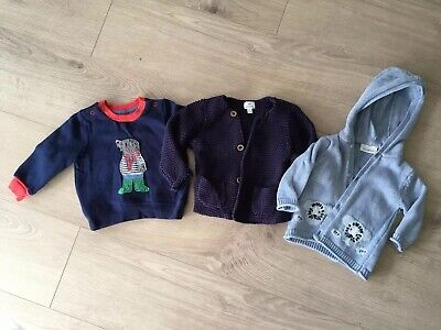 Baby Boy 3-6 Months John Lewis/Boden/Next Jumper/Jacket/Cardigan Bundle