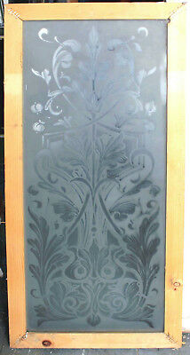 Original Ornate Etched Glass Window