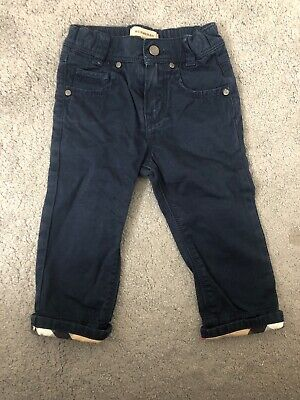 Burberry Boys Chinos Navy Age 18 Months, Authentic, Designer