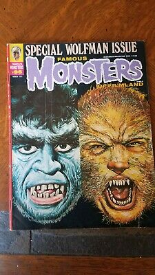 Famous Monsters Of Filmland Magazine #96 March 1973 Warren Wolf man And More!
