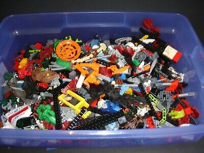 HUGE lot of 7 lbs pounds authentic LEGO BIONICLE & TECHNIC bricks and pieces