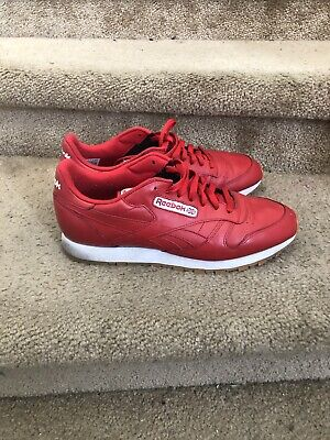 REEBOK CLASSIC LEATHER SM Size 11 or 11.5 Burgundy 2016