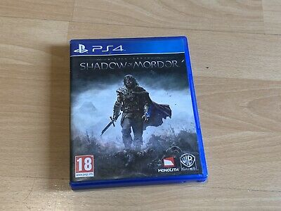 Middle Earth SHADOW OF MORDOR PS4 Game, Excellent Condition!