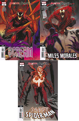 ABSOLUTE CARNAGE 2ND PRINT VARIANT SET (3) Miles Morales SCREAM SYMBIOTE 10/9/19