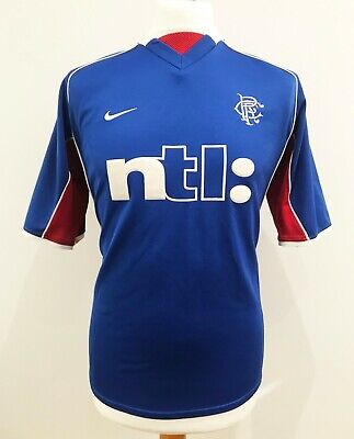 Glasgow Rangers Home Football Shirt 2001/02 (S) Excellent Condition