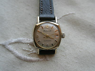 Extremely Rare 1966 Vintage Lady Bulova, Swiss 17 Jewels Automatic, Serviced