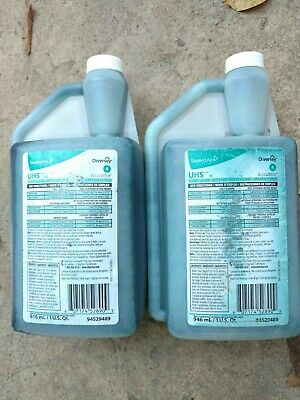 Lot of 2  DIVERSEY 1 Quart 94529489 UHS SC Floor Cleaners AccuMix Free Shipping