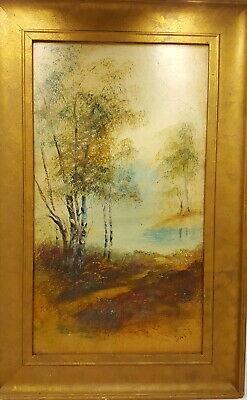 Antique Oil Painting . Signed