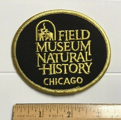 Field Museum Chicago Illinois Fighting Elephants Logo Black Embroidered Patch