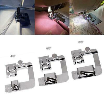 3Pcs Domestic Sewing Machine Foot Presser Rolled Hem Feet For Brother Singer
