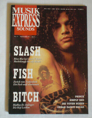 Zeitschrift Musik Express sounds - November 1991