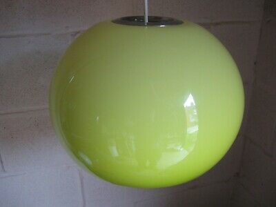 Circular Green Guzzini Lampshade Obscure Vintage 1960s/1970s