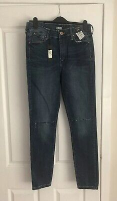 River Island Lana Super Skinny High Rise Ripped Knee Jeans BNWT Size 14R