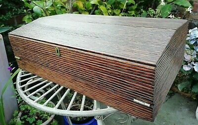 Antique 19thc Anglo Indian Ceylon Writing Slope Box Secret Drawers Palm Wood