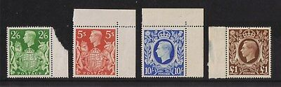 """1939/48 George VI """"Arms"""" - High values Definitive four values marginal unmounted"""