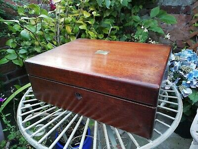Antique 19thc Victorian Writing Slope Box For Restoration