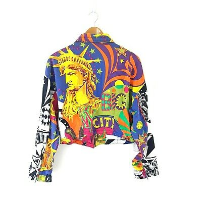 Vintage Versace Jacket Rare New York City Collection 80s Jeans Couture Size XL