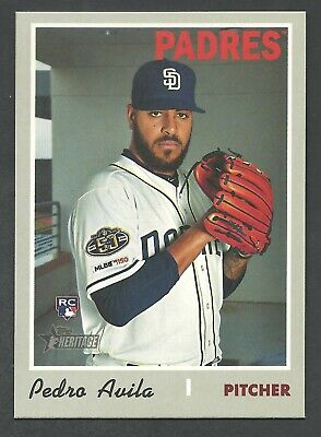 2019 Topps Heritage High Number Pedro Avila #684 ROOKIE - Padres