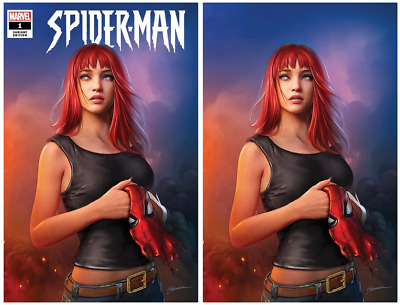 Spider-Man #1 Shannon Maer Mary Jane Virgin / Trade Variant Set Presale 9/18/19