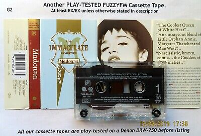 MADONNA The Immaculate Collection EU CASSETTE ALBUM/TESTED WX370C Hx Pro