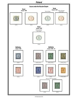 Print your own Finland Stamp Album, fully illustrated and annotated