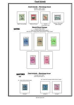Print your own Cook Islands Stamp Album, fully illustrated and annotated