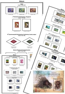 Print your own Malaysia Stamp Album, fully illustrated and annotated