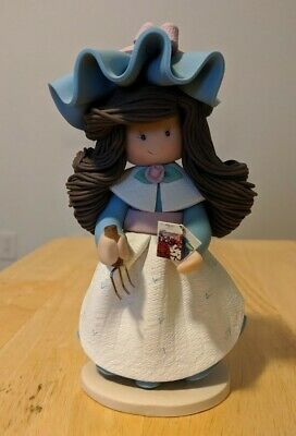 Vintage 1980's Polymer Clay Gardening Girl Figurine The Bakery Belles