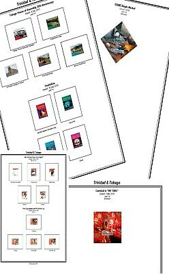 Print your own Trinidad and Tobago Stamp Album, fully illustrated and annotated
