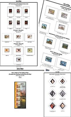 Print your own Isle of Man Stamp Album, fully illustrated and annotated