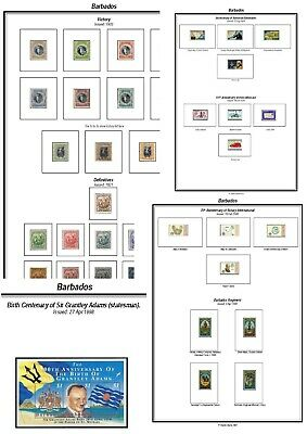 Print your own Barbados Stamp Album, fully illustrated and annotated