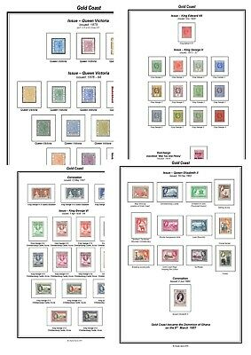 Print your own Gold Coast Stamp Album, fully illustrated and annotated