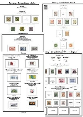 Print your own Germany Stamp Album, fully illustrated and annotated