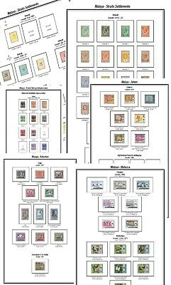 Print your own Straits Settlements Stamp Album, fully illustrated and annotated