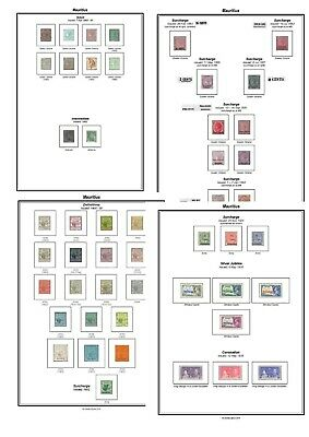 Print your own Mauritius Stamp Album, fully illustrated and annotated