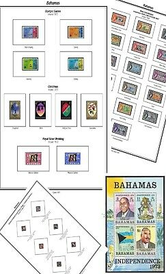 Print your own Bahamas Stamp Album, fully illustrated and annotated